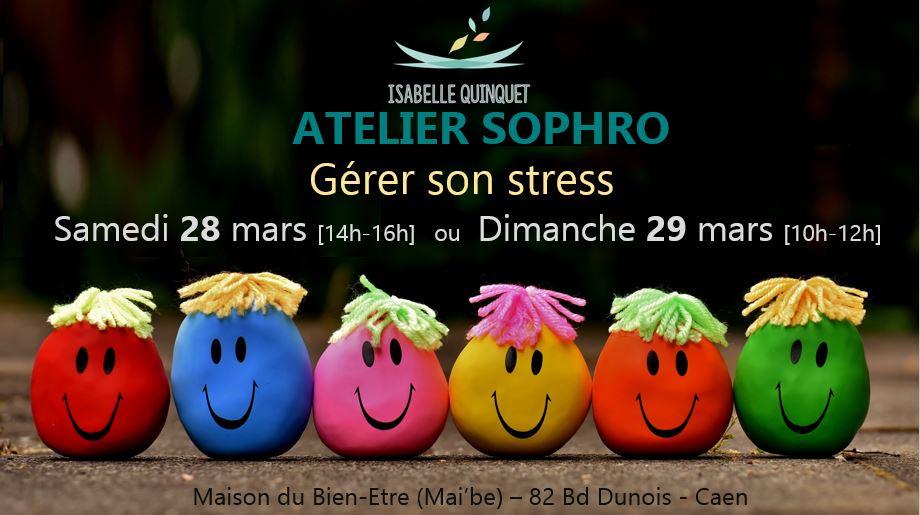 Atelier Sophro «Gérer son stress» samedi 28 et dimanche 29 mars