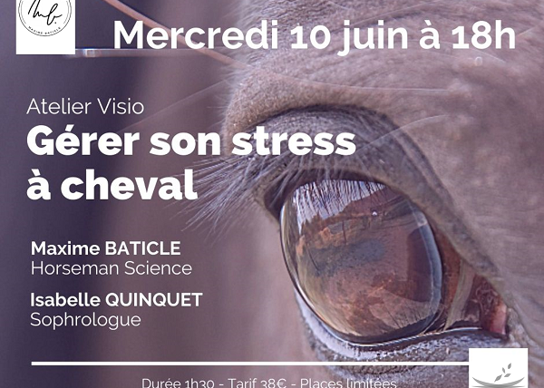Atelier Visio «Gérer son stress à cheval»